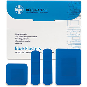 Dependaplast Assorted Detectable Catering Plasters (Box of 100)