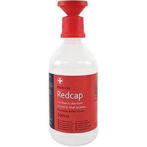 Redcap Reliwash Phosphate Buffer Solution Eye Wash with Eye Bath 500ml