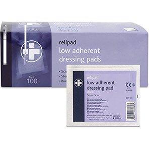 Relipad Small Low-Adherent Dressing Pads (Box of 100)