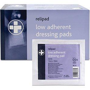 Relipad Medium Low-Adherent Dressing Pads (Box of 100)