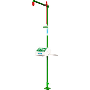 Hughes Free-Standing Galvanised Safety Shower with Eye/Face Bath