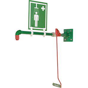 Hughes Wall-Mounted Galvanised Safety Shower
