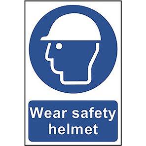 "Spectrum Industrial Self-Adhesive PVC ""Wear Safety Helmet"" Sign"