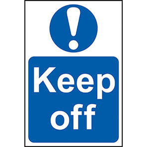 """Spectrum Industrial """"Keep Off"""" Sign 200mm x 300mm"""