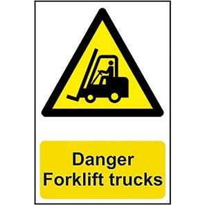 "Spectrum Industrial ""Danger Forklift Trucks"" Sign 200mm x 300mm"