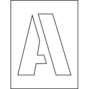 Spectrum Industrial 150mm Letters Stencil Set