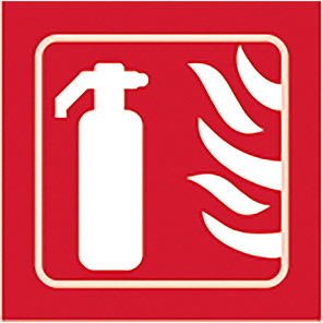 Spectrum Industrial Self-Adhesive Fire Extinguisher Taktyle Braille Sign