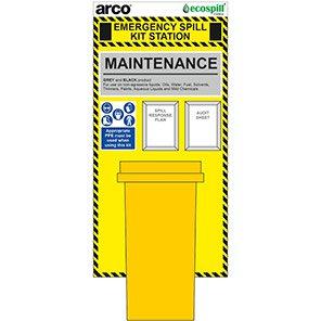 Arco 120L Maintenance Spill Kit Station Board