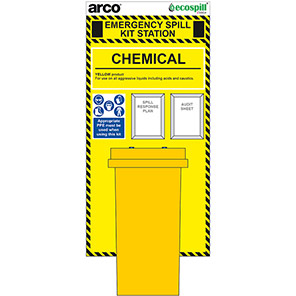 Arco 120L Chemical Spill Kit Station Board