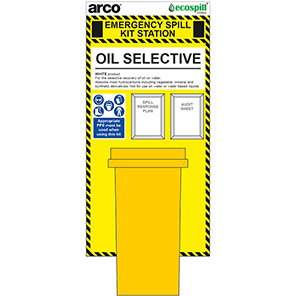 Arco 360L Oil Spill Kit Station Board