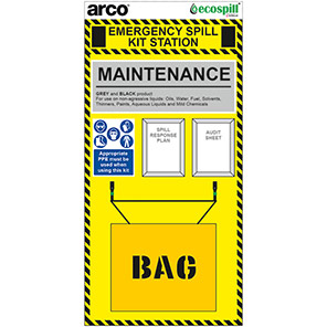 Arco 90L Maintenance Spill Kit Station Board