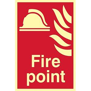 "Spectrum Industrial  Photoluminescent ""Fire Point"" Sign"
