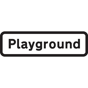 """Spectrum Industrial Dibond """"Playground"""" Sign with Channel"""