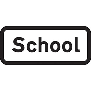 "Spectrum Industrial Dibond ""School"" Sign with Channel"
