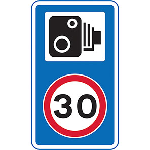 Spectrum Industrial Speed Camera and 30mph Road Sign with Channel
