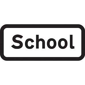 """Spectrum Industrial Dibond """"School"""" Sign"""