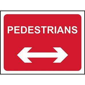 Sign Pedestrians Arrow 600x450 14723-1
