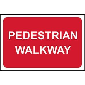 """Spectrum Industrial PVC """"Pedestrian Walkway"""" Sign"""