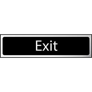 """Spectrum Industrial Black """"Exit"""" Sign"""