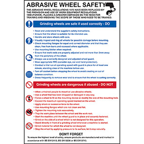 Spectrum Industrial Abrasive Wheel Safety Poster