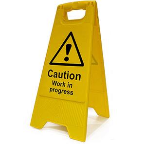 """Spectrum Industrial Heavy-Duty """"Caution Work In Progress"""" A-Board"""