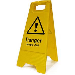 """Spectrum Industrial Heavy-Duty """"Danger Keep Out"""" A-Board"""