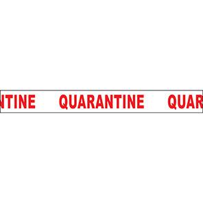 """White/Red """"Quarantine"""" Barrier Tape"""