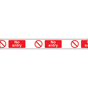 """White/Red """"No Entry"""" Barrier Tape"""