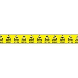 "Yellow ""Danger Men at Work"" Barrier Tape"