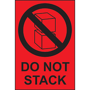 """Spectrum Industrial """"Do Not Stack"""" Labels (Roll of 1000)"""