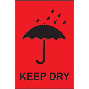 """Spectrum Industrial """"Keep Dry"""" Labels (Roll of 1000)"""
