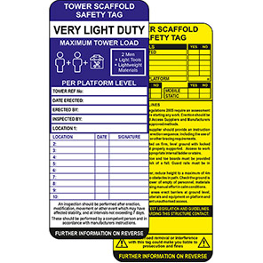 ClawTag Tower Scaffold Safety Insert Tag (Pack of 10)