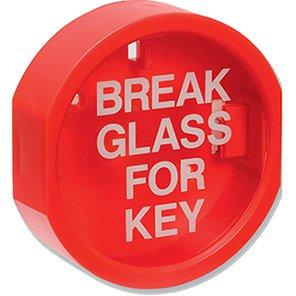 "Red ""Break Glass for Key"" Box"