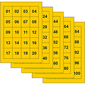 Spectrum Industrial Self-Adhesive Consecutive Numbers 25mm x 30mm (Pack of 100)