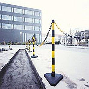 GUARDA Black/Yellow Chain Post with Lightweight Base Set