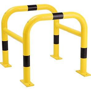 TRAFFIC-LINE Yellow/Black Galvanised Steel Column Protector
