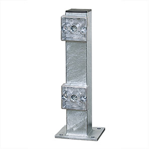 Black Bull Outdoor Low-Level Guard Rail Support Post