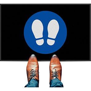 COBA Footprints Social Distancing Floor Mat (Pack of Two)