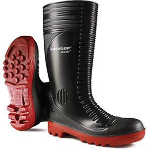Dunlop Acifort Black Ribbed SB Safety Wellington Boots