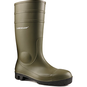 Dunlop Protomastor Green S5 Safety Wellington Boots
