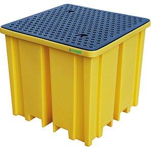 Ecotek Four-Way-Entry Polyethylene IBC Spill Pallet