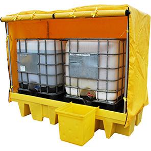 Ecotek Soft-Top Polyethylene IBC Spill Pallet