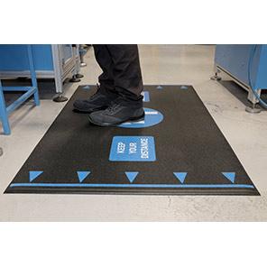 COBA Orthomat Black Social Distancing Anti-Fatigue Mat