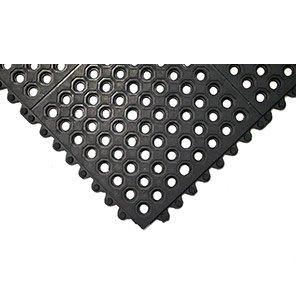 COBA Black Solid Fatigue-Step Mat Tile