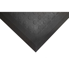 COBA Tough-Lock Eco Black Industrial Floorcover Tile (Pack of 4)
