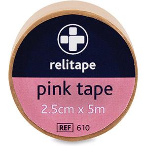 Relitape Pink Washproof Medical Tape 5m
