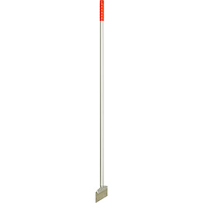 Hillbrush Red Flexible Stainless Steel Scraper with Aluminium Handle