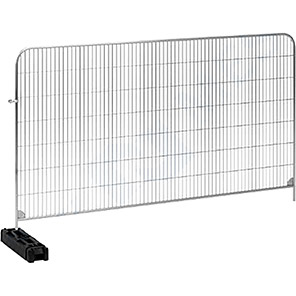 Blok N Mesh Temporary Fence Panel with Rubber Block and Coupler