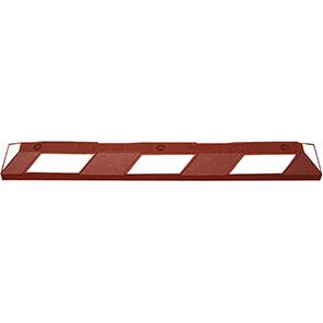 TRAFFIC-LINE PARK-IT Brown/White Wheel Stop