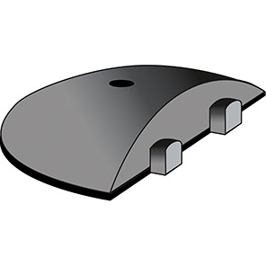 TRAFFIC-LINE Easy-Rider Black/Yellow 5mph Speed Bump Endcap